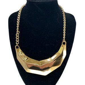 Kenneth J. Lane gold tone statement necklace